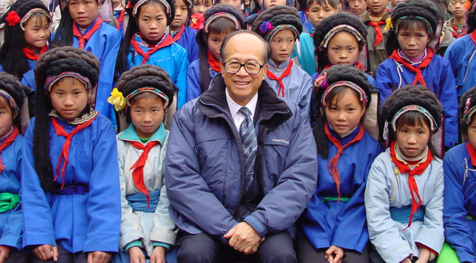Li Ka-Shing Foundation has paid tuition for four to five years for students at Shantou University, Guangdong Province - China